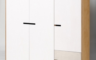 Tủ quần áo 3 buồng gỗ tự nhiên