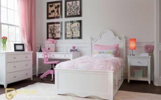 mẫu giường ngủ gỗ đẹp cho bé U16