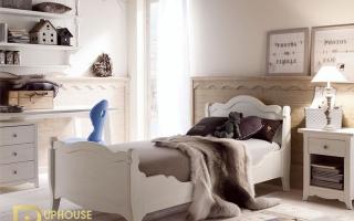mẫu giường ngủ gỗ đẹp cho bé U32