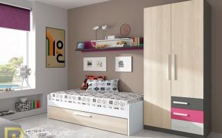 Tủ quần áo trẻ em bằng gỗ U26