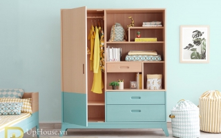 Tủ quần áo trẻ em bằng gỗ U39