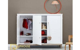 Tủ quần áo trẻ em bằng gỗ U41