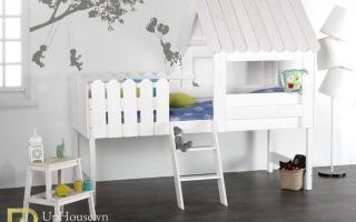 mẫu giường ngủ gỗ đẹp cho bé U29