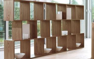 Mẫu tủ kệ gỗ trang trí đẹp U46