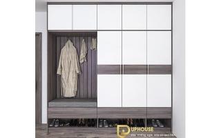 Mẫu tủ quần áo gỗ đẹp U23a