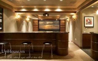 Mẫu tủ quầy bar gỗ đẹp U15