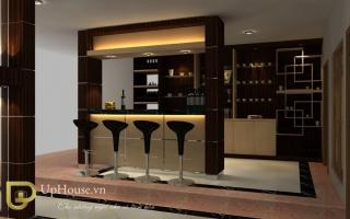 Mẫu tủ quầy bar gỗ đẹp U4