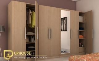 Mẫu tủ quần áo gỗ đẹp U22