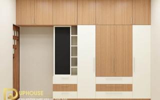 Mẫu tủ quần áo gỗ đẹp U26