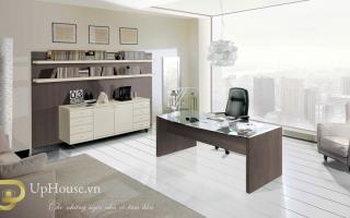 mẫu bàn làm việc văn phòng đẹp của giám đốc U43