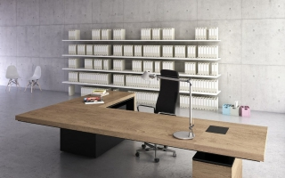 mẫu bàn làm việc văn phòng đẹp của giám đốc U45