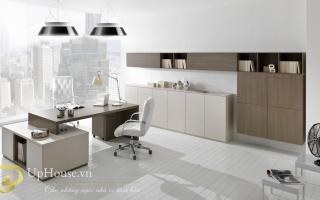 mẫu bàn làm việc văn phòng đẹp của giám đốc U46