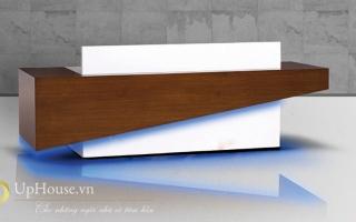 Mẫu bàn quầy lễ tân gỗ đẹp U15