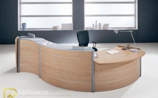 Mẫu bàn quầy lễ tân gỗ đẹp U49